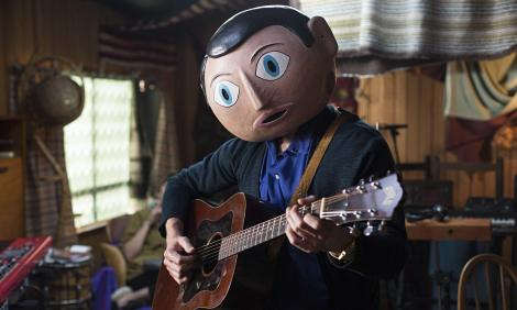 Michael Fassbender as Frank Sidebottom in 'Frank'