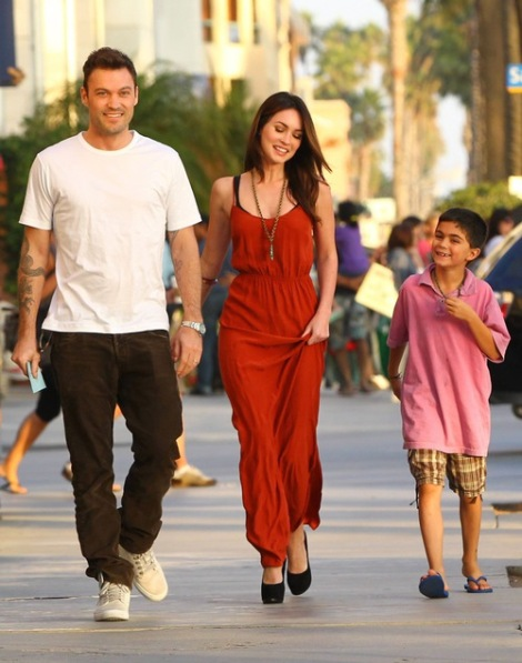 *EXCLUSIVE*  Brian Austin Green and Megan Fox take Kassius to BOA