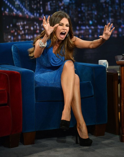 SOFIA VERGARA on Late Night With Jimmy Fallon in New York